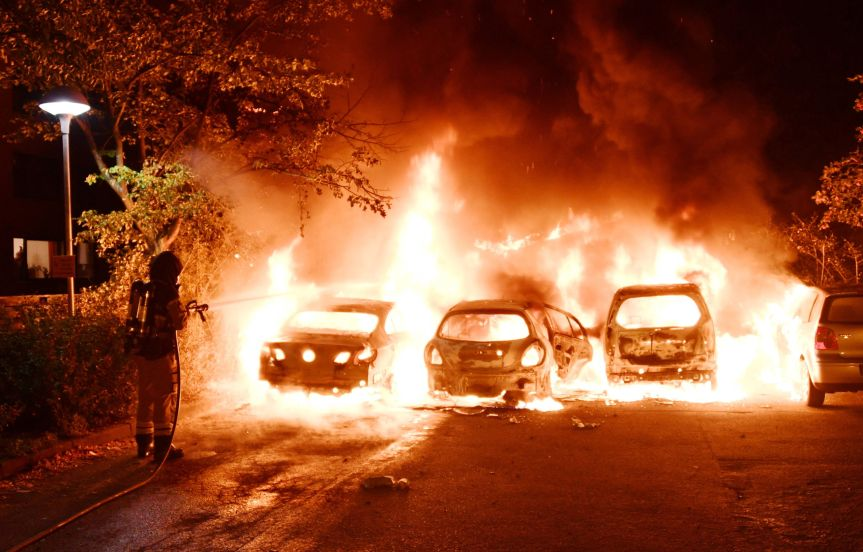 Several Cars Set on Fire inMalmoe