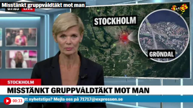 Man Gang-Raped in Stockholm